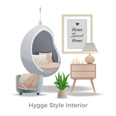 Hygge Style Interior Element