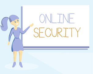 Word writing text Online Security. Business concept for rules to protect against attacks over the Internet.
