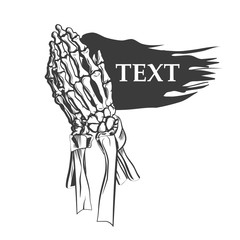 Vector illustration - Praying skeleton hands. vector illustration