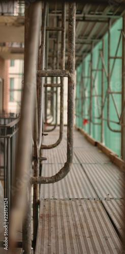 Construction Catwalk for Building Renovation