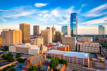 Oklahoma City, Oklahoma, USA Skyline Fototapete