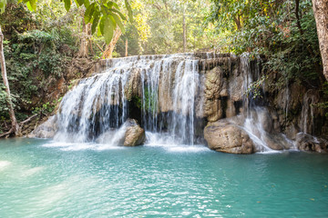 Famous Erawan waterfall