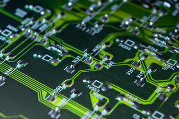 part of an electronic circuit board with