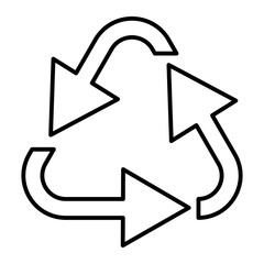 Recycle thin line icon. Environment vector illustration isolated on white. Cycle arrows outline style design, designed for web and app. Eps 10.