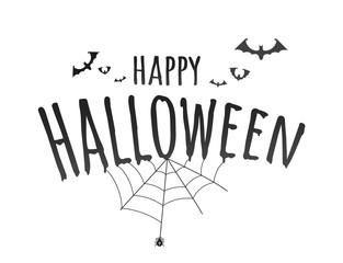 Happy Halloween vector logo isolated on white