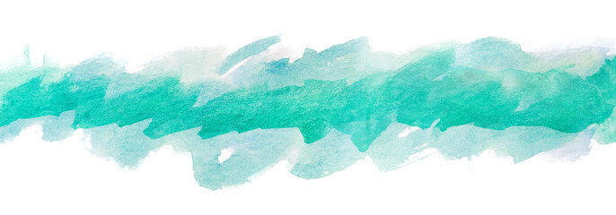 background watercolor strip abstraction green blue