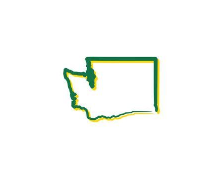 Washington Outline Logo Icon 1