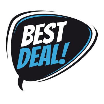 best deal retro speech bubble