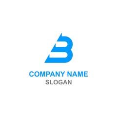 B arrow initial letter logo.