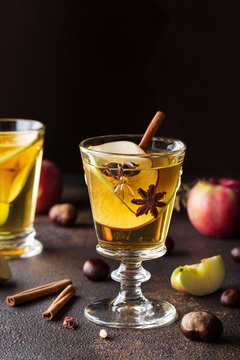 Apple cider fall cocktail with spices.