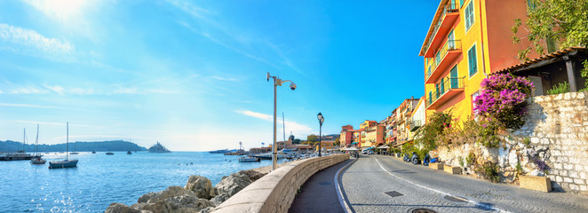 Resort town Villefranche-sur-Mer. Cote d'Azur, France