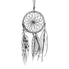 monochrome boho dream catcher