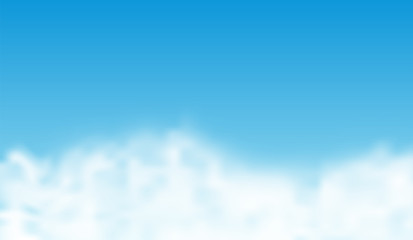 White clouds on blue sky. Vector background.