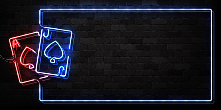 Vector realistic isolated neon sign of Blackjack frame logo for decoration and covering on the wall background. Concept of casino and gambling.