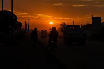 sunset in Africa, Uganda, Mbale