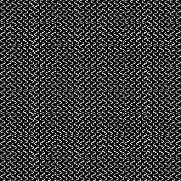 Monochrome White on Black Mesh Vertical Stripe Vector Pattern Seamless, Hand Drawn Wavey Line Texture Graphic for Industrial Packaging, Surface Fashion Prints, Trendy Wrap, Geometric Style Backdrop