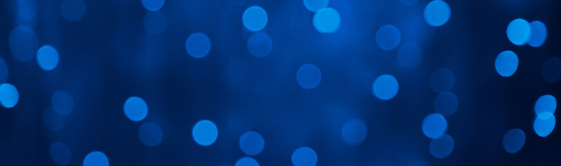 PanoramicNavy Blue Holiday Beautiful Background with bokeh light