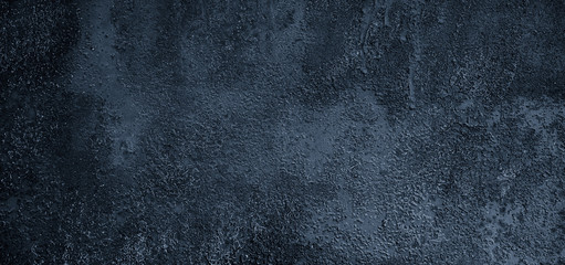 Panoramic Abstract Grunge dark Blue Background With Copy Space