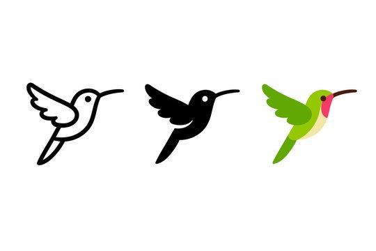 Stylized hummingbird icon
