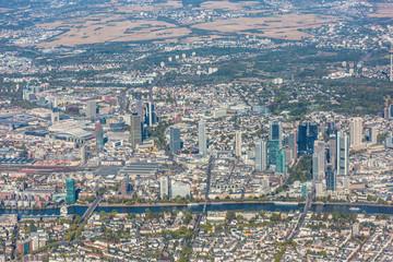 Frankfurt am Main Skyline - aerial view