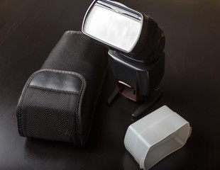 external flash, cover and diffuser