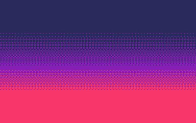 Pixel art gradient color. Dithering vector background.