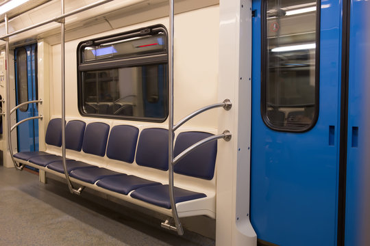 interior of the subway car