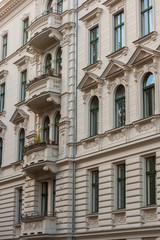Facade of a beautiful old Building in the so-called Riehmers Hofgarten in Berlin, Kreuzberg District