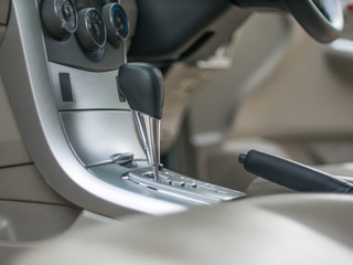 automatic gear inside the car.