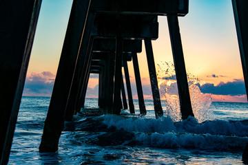 Vero Beach Pier at Sunrise