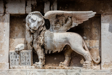 St. Mark's lion on the Zadar's Land Gate, built by Venetians in 1543.