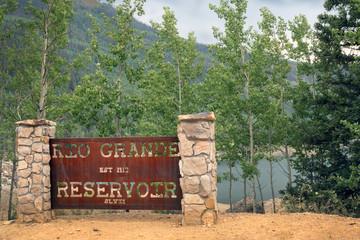 Rio Grande Reservoir. Rio Grande National Forest. Colorado, USA