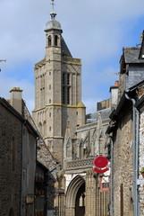 Ville de Dol de Bretagne, clocher de la cathédrale Saint Samson,  département d'Ille-et-Vilaine, Bretagne, France