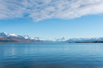 Lake Pukaki and Mt Cook in the morning light