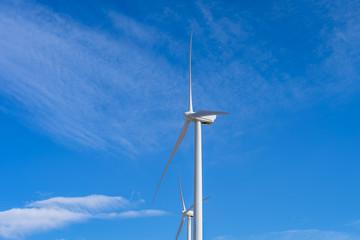 Wind Turbine at Wind Farm in California Desert
