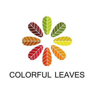 colorful leaves logo