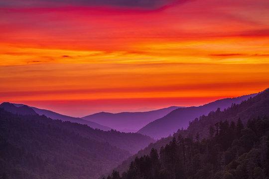 Morton Overlook at Sunset