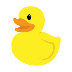 Cartoon Flat Vector Rubber Duck