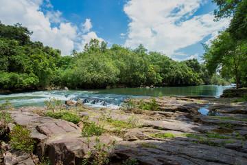 Waterfall, Flowing Water, River, Rock ,Stone