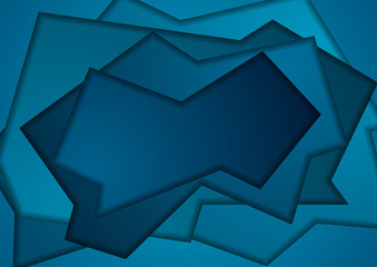 Dark blue abstract papercut corporate background