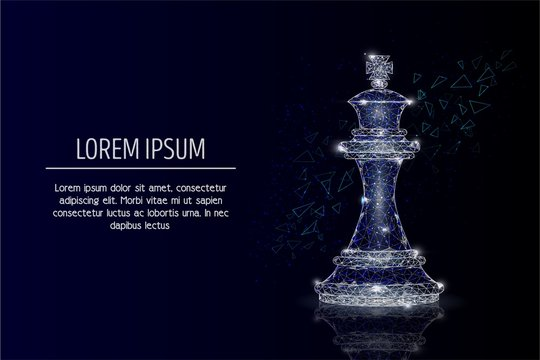 King chess piece vector geometric polygonal background