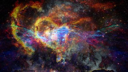 Deep outer space - nebula and galaxy. Elements of this image furnished by NASA.