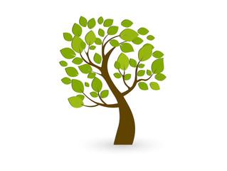 Vector tree emblem. Icon, logo tree.