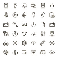 Data exchange icon set