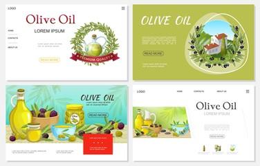 Cartoon Fresh Olive Websites Set