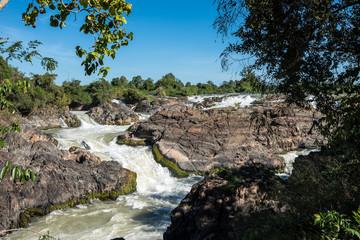 Laos - Nakasong - die 4000 Inseln - Liphi Wasserfälle (Somphamit)