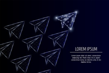 Leader concept vector geometric polygonal art background