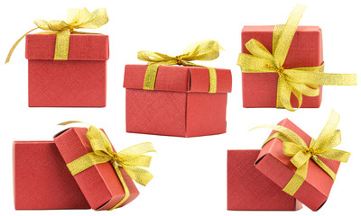 Set Gift Box on White background,Clipping path