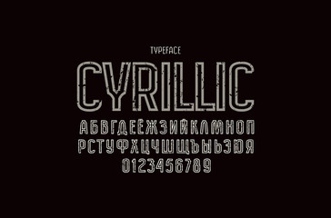 Original hollow sans serif font