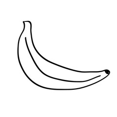 Banana icon in hand drawn style